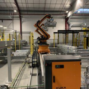Robots de palettisation, conteneurs fils